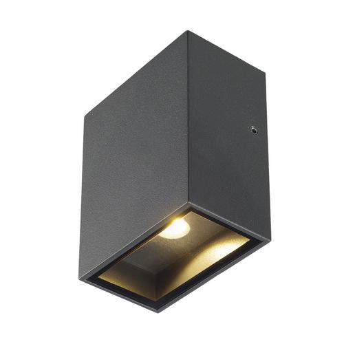 Marbel 232435 SLV BIG QUAD светильник настенный IP44 4.5Вт с LED 3000К, 260лм, 110°, антрацит
