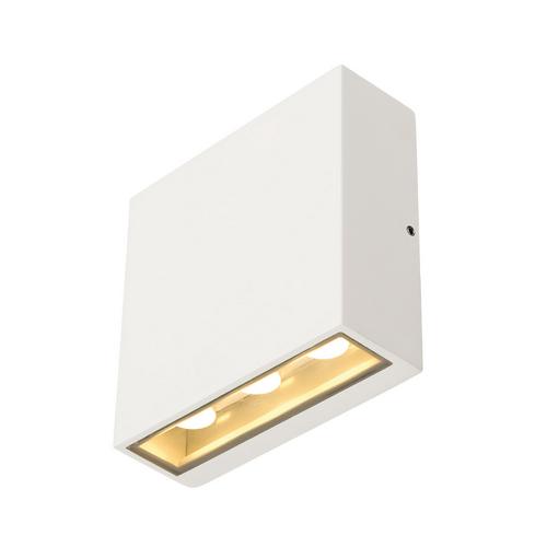 Marbel 232451 SLV BIG QUAD светильник настенный IP54 8.8Вт c LED 3000К, 480лм, 2х 30°, белый