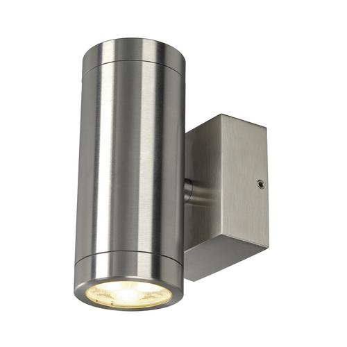 Marbel 233312 SLV ASTINA STEEL LED светильник настенный IP44 8.7Вт c LED 3000К, 510лм, 2х 24°, сталь