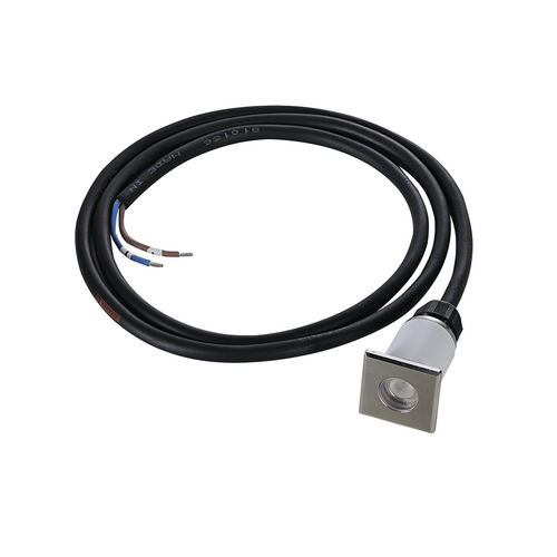 Marbel 233550 SLV DASAR® 37 SQUARE светильник встраиваемый IP67 12-24В= 2Вт c LED 3000К, 120лм, 30°, без БП