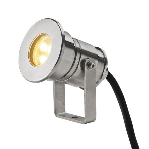 Marbel 233570 SLV DASAR® PROJECTOR LV светильник IP68 12В/24В 7В с LED 3000К, 360лм, 40°, сталь