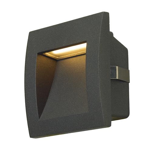 Marbel 233605 SLV DOWNUNDER OUT S светильник встраиваемый IP55 1.7Вт c LED 3000К, 25лм, антрацит