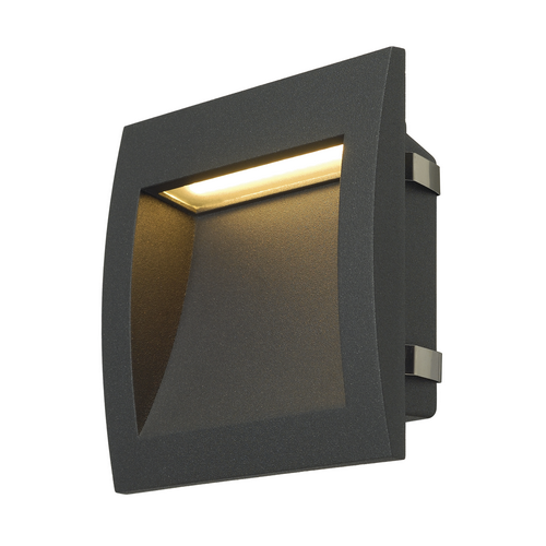 Marbel 233615 SLV DOWNUNDER OUT L светильник встраиваемый IP55 3.3Вт c LED 3000К, 85лм,антрацит