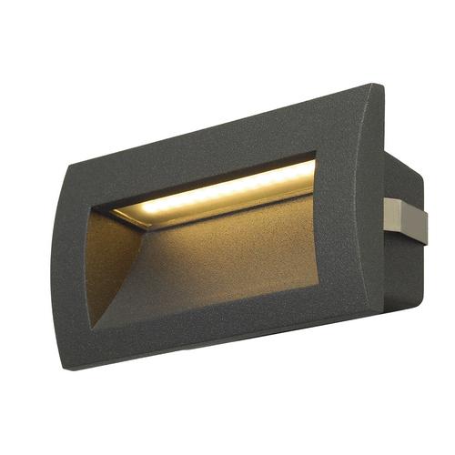 Marbel 233625 SLV DOWNUNDER OUT M светильник встраиваемый IP55 3.3Вт c LED 3000К, 85лм,антрацит