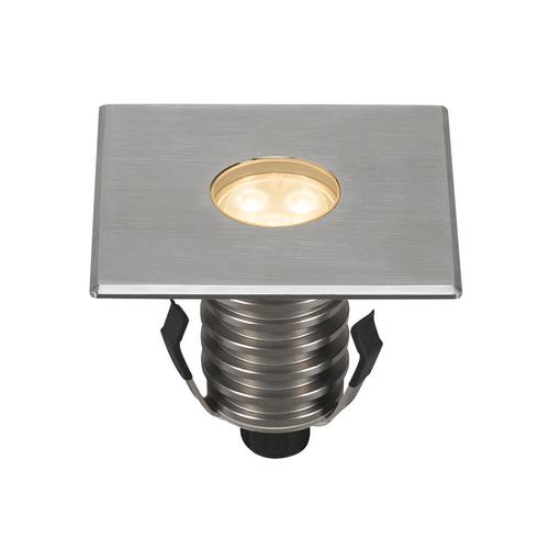 Marbel 233696 SLV DASAR® 100 PREMIUM SQUARE светильник встраиваемый IP67 5.5Вт c LED 3000К, 300лм, 60°, Al,