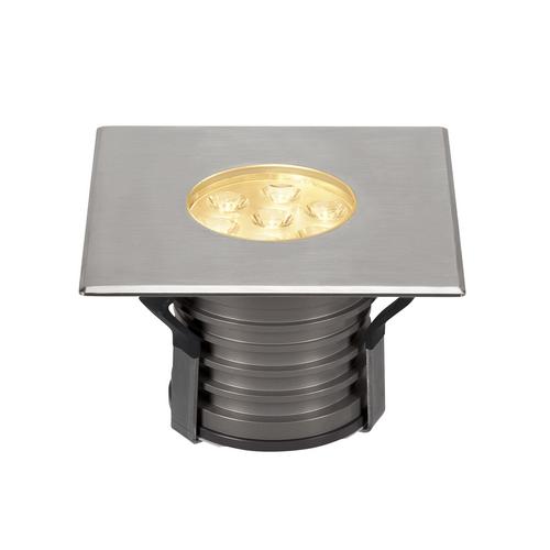 Marbel 233732 SLV DASAR® 150 PREMIUM SQUARE светильник встраиваемый IP67 17Вт c LED 3000К, 1200лм, 30°, Al,