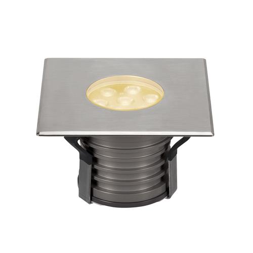 Marbel 233736 SLV DASAR® 150 PREMIUM SQUARE светильник встраиваемый IP67 17Вт c LED 3000К, 1200лм, 60°, Al,