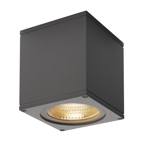 Marbel 234535 SLV BIG THEO LED CL светильник потолочный IP44 21Вт с LED 3000К, 2000лм, 24°, антрацит