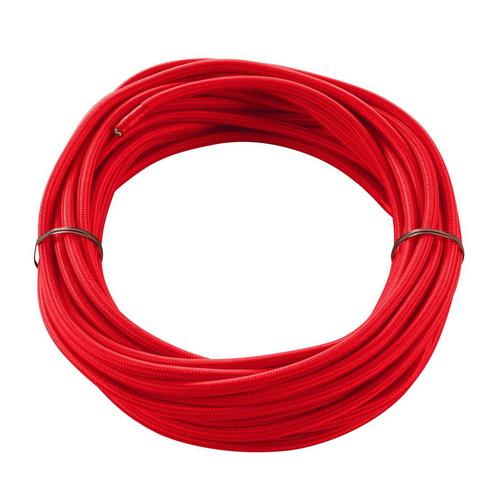 Marbel 961276 SLV КАБЕЛЬ 3х 0,75 кв.мм, 10 м, H03W-F, в текстильной оплетке, диам. 6мм, красный