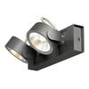 1000129 KALU 2 LED светильник накладной 31Вт с LED 3000К, 2000лм, 2х 60°, черный SLV by Marbel