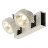 1000130 KALU 2 LED светильник накладной 31Вт с LED 3000К, 2000лм, 2х 60°, белый/ черный SLV by Marbel