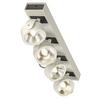 1000134 SLV KALU 4 LED светильник накладной 60Вт с LED 3000К, 4000лм, 4х 60°, белый/ черный