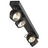 1000137 SLV KALU 4 LONG LED светильник накладной 60Вт с LED 3000К, 4000лм, 4х 60°, черный