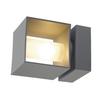 1000335 SLV SQUARE TURN G9 светильник настенный IP44 для лампы QT14 G9 42Вт макс., серебристый (ex 2