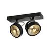 1000703 KALU 2 ES111 светильник накладной для 2-х ламп ES111 по 75Вт макс., черный SLV by Marbel