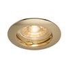 1000716 SLV PIKA ROUND QPAR51 светильник встраиваемый для лампы GU10 50Вт макс., латунь