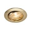 1000720 SLV PIKA ROUND TURNO QPAR51 светильник встраиваемый для лампы GU10 50Вт макс., латунь