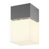 1000835 SLV SQUARE CL LED светильник потолочный IP44 12Вт с LED 3000K, 760лм, сталь/ белый