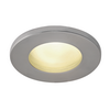 1001168 DOLIX OUT ROUND GU10 светильник встраиваемый IP65 для лампы GU10 50Вт макс., матовый хром SLV by Marbel