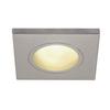 1001171 DOLIX OUT SQUARE GU10 светильник встраиваемый IP65 для лампы GU10 50Вт макс., серебр. (ex 111144) SLV by Marbel