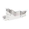 1001388 3Ph | S-TRACK, T-коннектор с разъёмом питания, GND справа, белый RAL9016 (ex 175141) SLV by Marbel