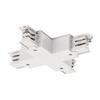 1001389 SLV 3Ph | S-TRACK, X-коннектор с разъёмом питания, 16А макс., белый RAL9016 (ex 175151)