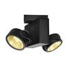1001431 TEC KALU 2 LED светильник накладной 31Вт с LED 3000К, 1900лм, 2х 24°, черный SLV by Marbel