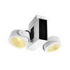 1001432 TEC KALU 2 LED светильник накладной 31Вт с LED 3000К, 1900лм, 2х 24°, белый/ черный SLV by Marbel