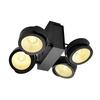 1001433 TEC KALU 4 LED светильник накладной 60Вт с LED 3000К, 3800лм, 4х 24°, черный SLV by Marbel