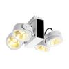 1001434 SLV TEC KALU 4 LED светильник накладной 60Вт с LED 3000К, 3800лм, 4х 24°, белый/ черный