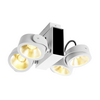 1001434 TEC KALU 4 LED светильник накладной 60Вт с LED 3000К, 3800лм, 4х 24°, белый/ черный SLV by Marbel