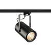 1001476 3Ph, EURO SPOT LED LARGE светильник 61Вт с LED 3000К, 5500лм, 12°, черный SLV by Marbel