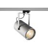 1001478 3Ph, EURO SPOT LED LARGE светильник 61Вт с LED 3000К, 5500лм, 12°, серебристый SLV by Marbel