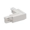 1001520 3Ph | EUTRAC®, L-коннектор с разъёмом питания, 16А макс., GND по внешнему углу, белый (ex 145671) SLV by Marbel