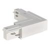 1001521 3Ph | EUTRAC®, L-коннектор с разъёмом питания, 16А макс., GND по внутр. углу, белый (ex 145681) SLV by Marbel