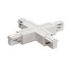 1001522 3Ph | EUTRAC®, X-коннектор с разъёмами питания для 2х контуров, 16А макс., белый RAL9016 (ex 145691) SLV by Marbel