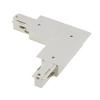 1001537 3Ph | EUTRAC® R, L-коннектор с разъёмами питания, 16A макс., GND по внутрен. углу, белый (ex 145751) SLV by Marbel
