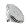 1001572 SLV LED QPAR111 GU10 источник света 230В, 7Вт, 3000K, 730лм, 40°, серебристый корпус