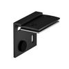 1001802 SLV H-PROFIL, кронштейн стеновой, 2шт., черный