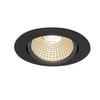 1001978 SLV NEW TRIA 68 ROUND CS/LS DtW светильник встр. 7.2Вт с LED 1800-3000К, 440лм, 38°, CRI>90,