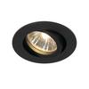 1001980 SLV NEW TRIA 68 ROUND GU10 CS/LS светильник встраиваемый для лампы GU10 50Вт макс., черный
