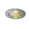 1001990 SLV NEW TRIA 68 ROUND CS/LS DtW светильник встр. 7.2Вт с LED 1800-3000К, 440лм, 38°, CRI>90,