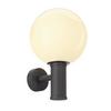 1002002 GLOO PURE WL светильник настенный IP44 для лампы E27 23Вт макс., антрацит/ стекло белое (ex 232005) SLV by Marbel