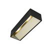 1002842 LOGS IN L светильник настенный 17Вт с LED 3000К, 1100лм, черный/ латунь SLV by Marbel