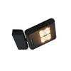 1002920 LENITO светильник настенный 24Вт с LED 3000K, 2540лм, черный SLV by Marbel