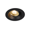 1003036 DINGILO светильник встраиваемый IP44/20 4.4Вт с LED 2700К, 330лм, 40°, CRI>90, с БП, черный SLV by Marbel