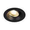 1003038 DINGILO светильник встраиваемый IP44/20 4.4Вт с LED 3000К, 330лм, 40°, CRI>90, с БП, черный SLV by Marbel
