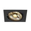 113830 NEW TRIA 150 SQUARE ES111 LS светильник встраиваемый для лампы ES111 75Вт макс., черный SLV by Marbel