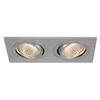 113896 NEW TRIA 155 DOUBLE CS светильник встраиваемый 14Вт с БП и LED 2700К, 1160лм, 2x 38°, мат. алюминий SLV by Marbel