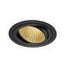 114260 NEW TRIA 150 ROUND CS светильник встраиваемый 29Вт с БП и LED 2700К, 2210лм, 30°, 1-10В, черный SLV by Marbel